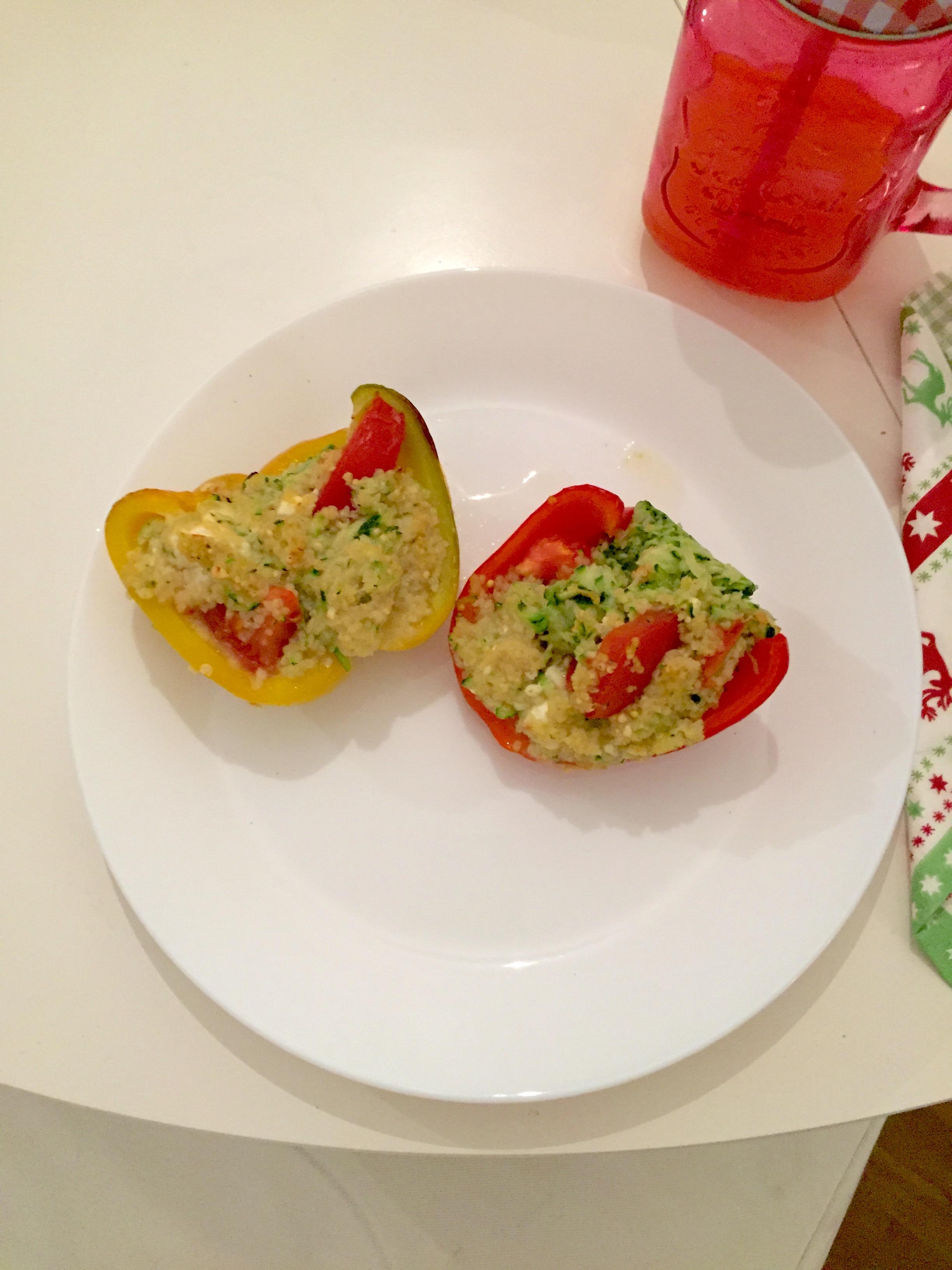 Gefüllte Paprika (vegetarisch)