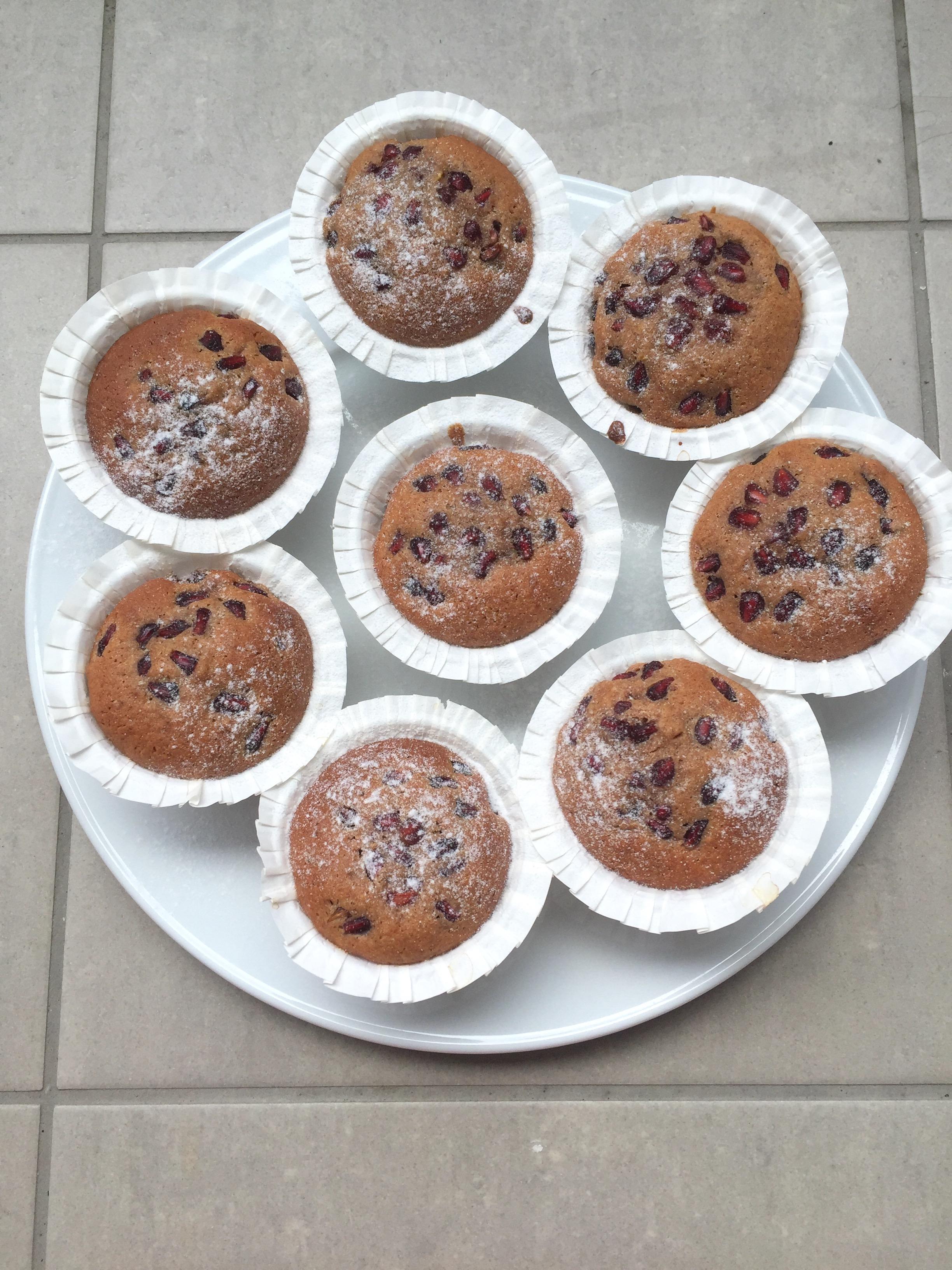 Chai-Granatapfel Muffins